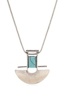 Arch Shape Pendant Necklace
