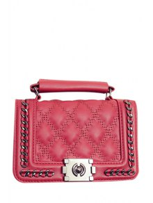 Buy Cover Checked Chains Crossbody Bag