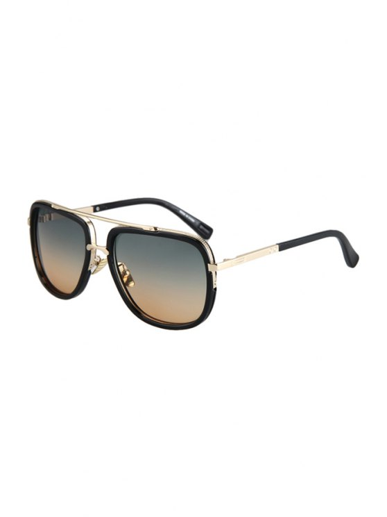 Alloy Match Gradual Color Lenses Sunglasses - TEA-COLORED  Mobile