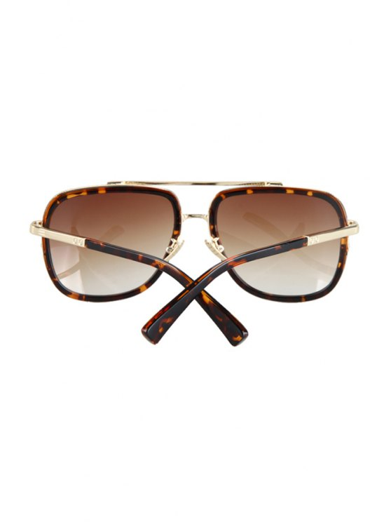 Alloy Match Leopard Pattern Sunglasses - BROWN  Mobile