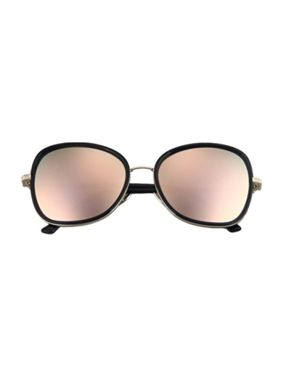 Alloy Match Black Big Frame Sunglasses - PINK  Mobile