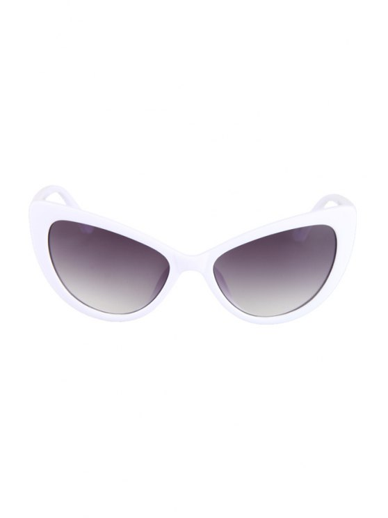 Letter T Shape Inlay Sunglasses - WHITE  Mobile