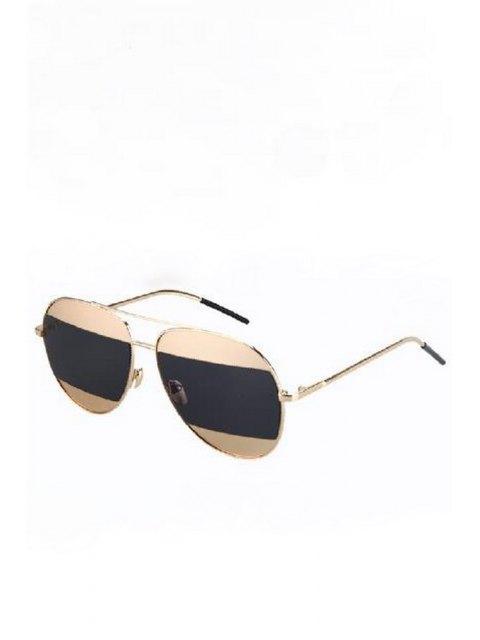 buy Irregular Lenses Golden Alloy Sunglasses - BLACK  Mobile