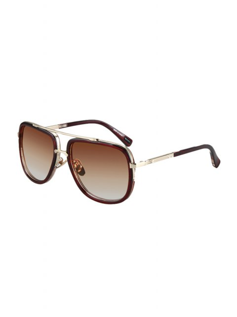 online Alloy Match Tea-Colored Frame Sunglasses - TEA-COLORED  Mobile