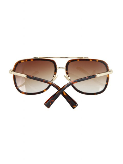 best Alloy Match Leopard Pattern Sunglasses - BROWN  Mobile