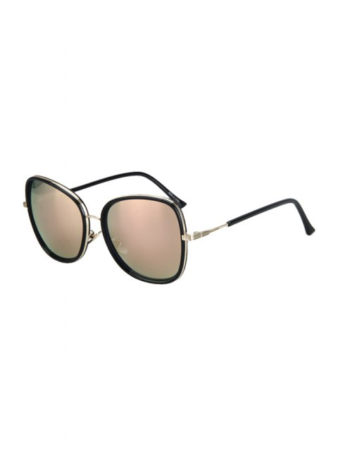 womens Alloy Match Black Big Frame Sunglasses - PINK  Mobile