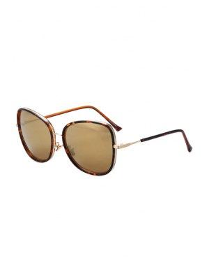 Alloy Match Big Frame Flecky Sunglasses - Light Brown