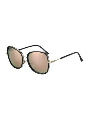 Alloy Match Black Big Frame Sunglasses - Pink