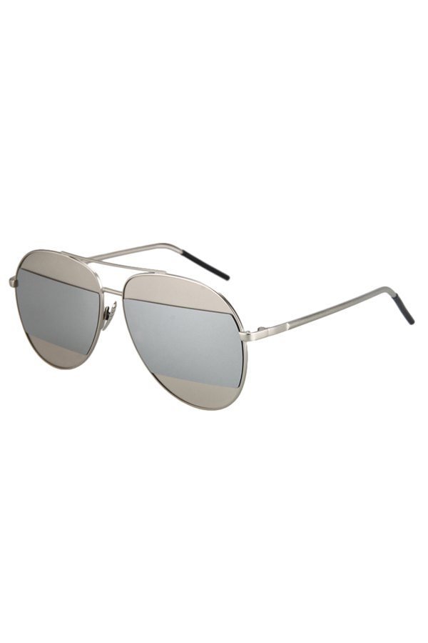 Irregular Lenses Silver Alloy Sunglasses For Women