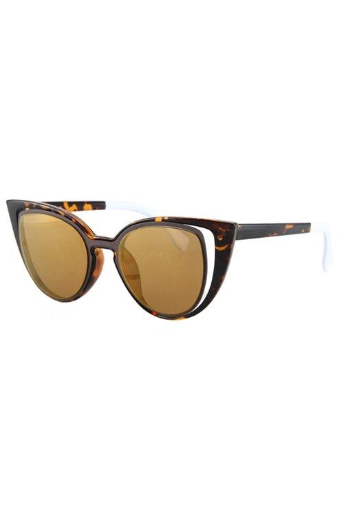 Hollow Out Frame Flecky Sunglasses