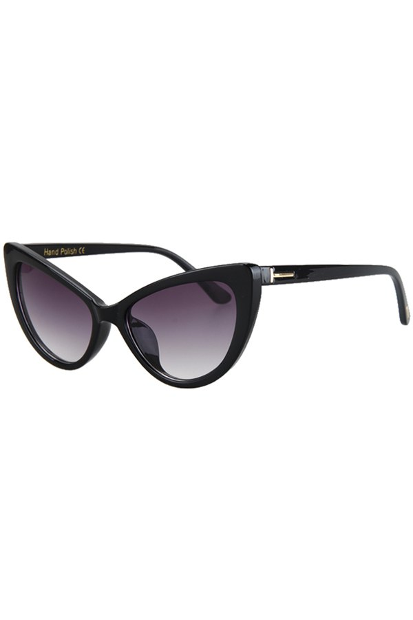Letter T Shape Inlay Sunglasses