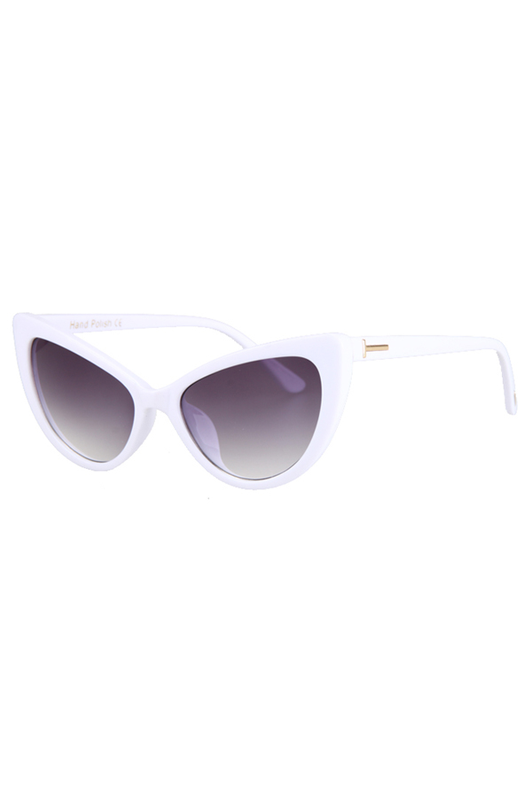 Letter T Shape Inlay Sunglasses For Women