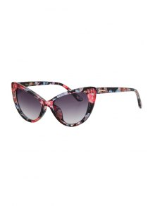 Letter T Shape Inlay Flower Sunglasses