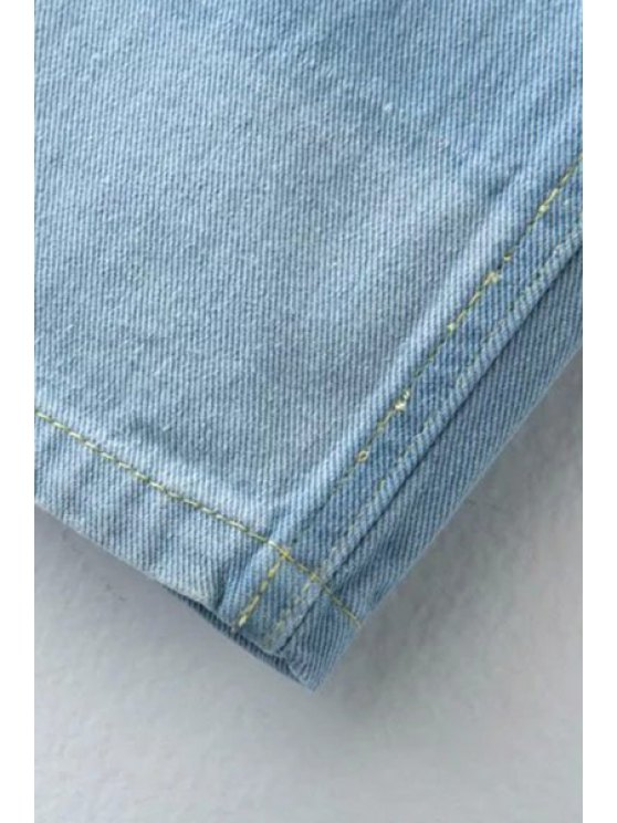 Ripped Casual Pockets Ombre Jeans - LIGHT BLUE M Mobile