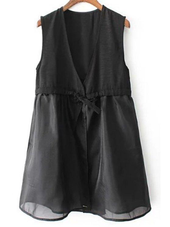 shop A-Line Black Vest Dress - BLACK M