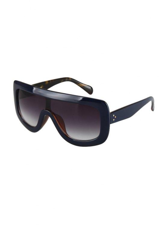 Deep Blue match Leopard Wrap Sunglasses - Bleu Foncé