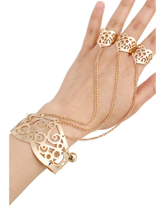 Bell Hollow Out Mitten Bracelet -   Mobile