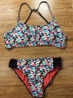 Colorful Geometric Bikini Set - S