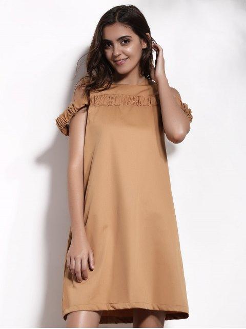 best Camel A-Line Dress - CAMEL 2XL Mobile