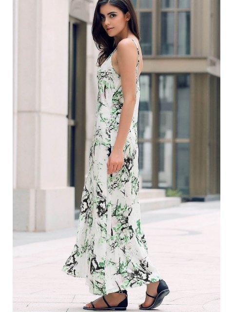 women's Front Slit Maxi Strap Dress - WHITE S Mobile