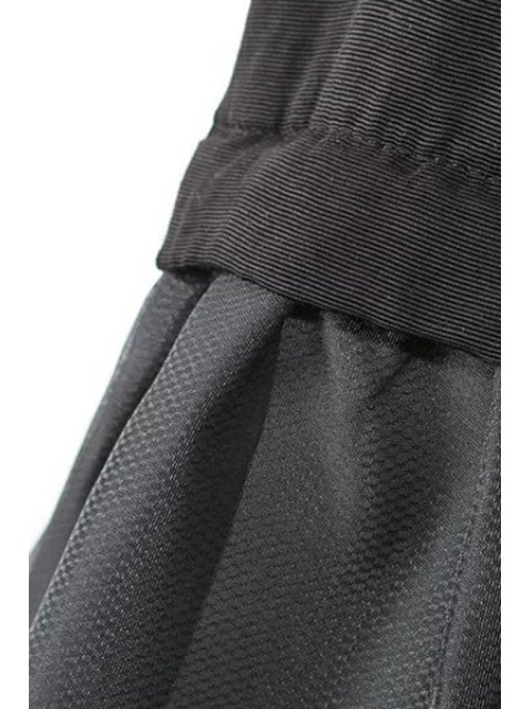 shop A-Line Black Vest Dress - BLACK M Mobile