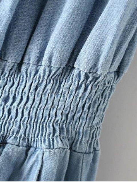 outfit Off-The-Shoulder Denim Midi Dress - LIGHT BLUE L Mobile