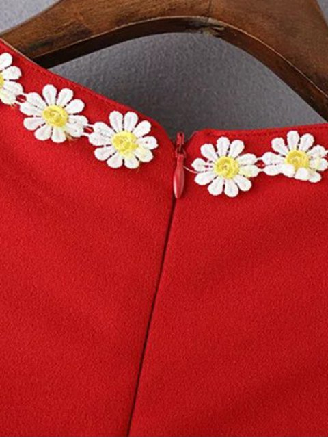 Tank Dress Daisy Crochet - Rouge L Mobile