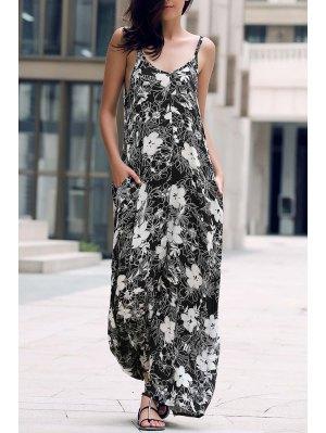 Low Cut Maxi Strap Dress - Noir