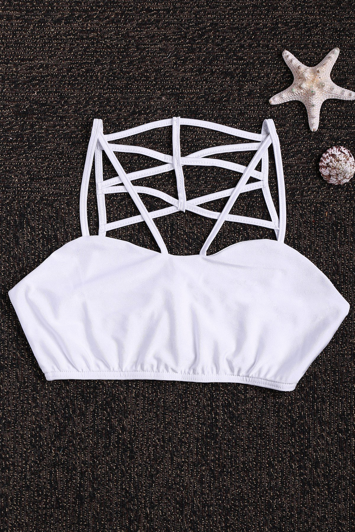 Spaghetti Strap Back Cross Tube Top