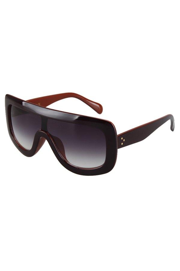 Two Color Match Wrap Sunglasses