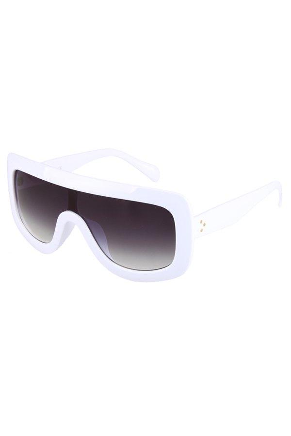 White Wrap Sunglasses