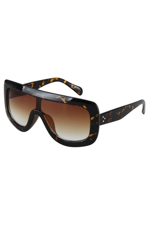 Leopard Wrap Sunglasses