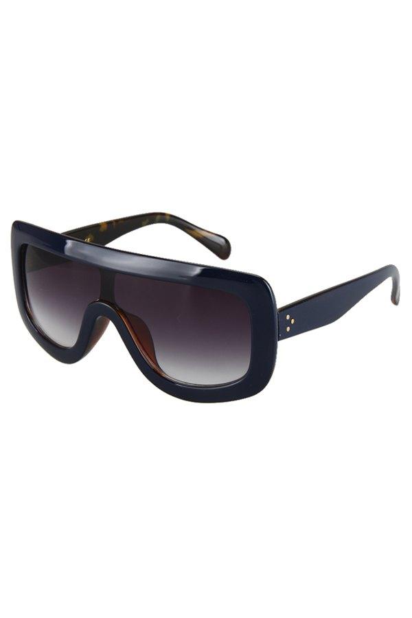 Deep Blue Match Leopard Wrap Sunglasses For Women