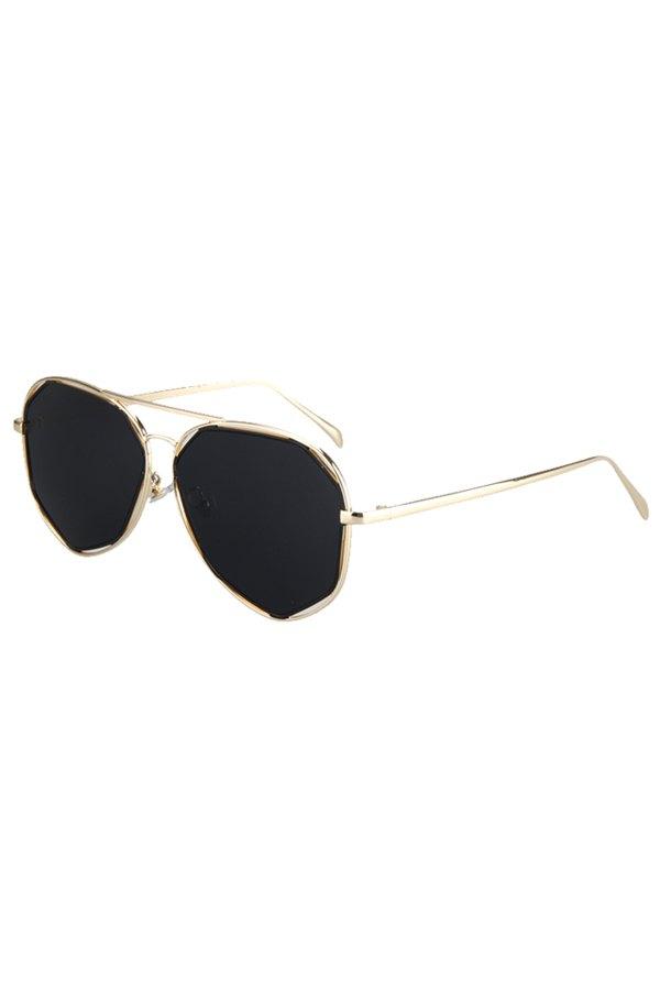 Golden Irregular Alloy Frame Sunglasses