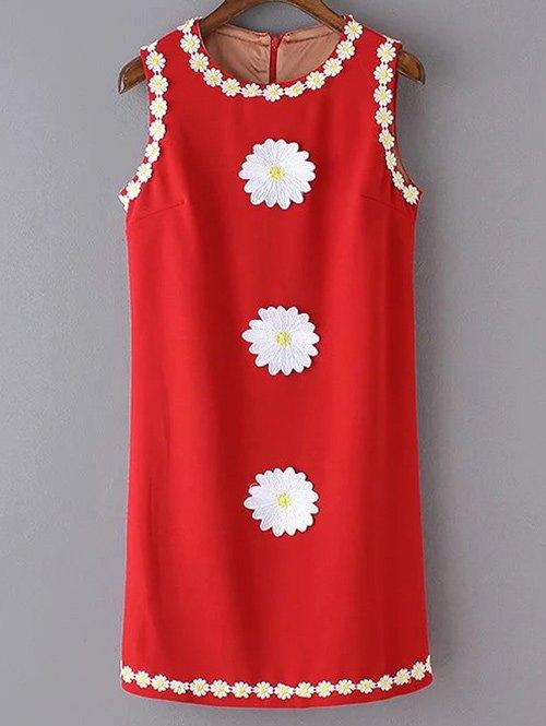 Sleeveless Crochet Daisy Tank Dress