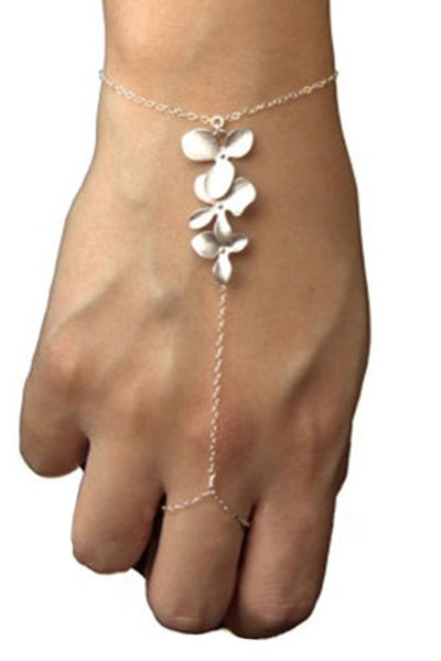 Flower Golden Mitten Wrist Chain