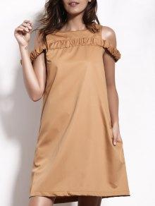 Camel A-Line Dress