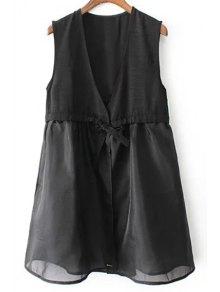 A-Line Black Vest Dress