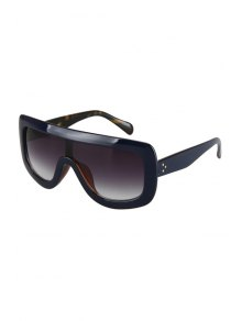 Deep Blue Match Leopard Wrap Sunglasses