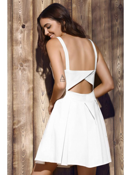 Bare Midriff Strap Dress - WHITE XL Mobile