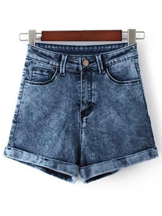 Lavar la nieve pantalones cortos de mezclilla - Azul 28
