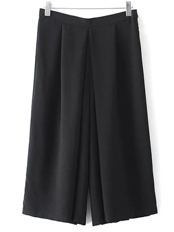 best Wide Leg Black Skorts - BLACK S