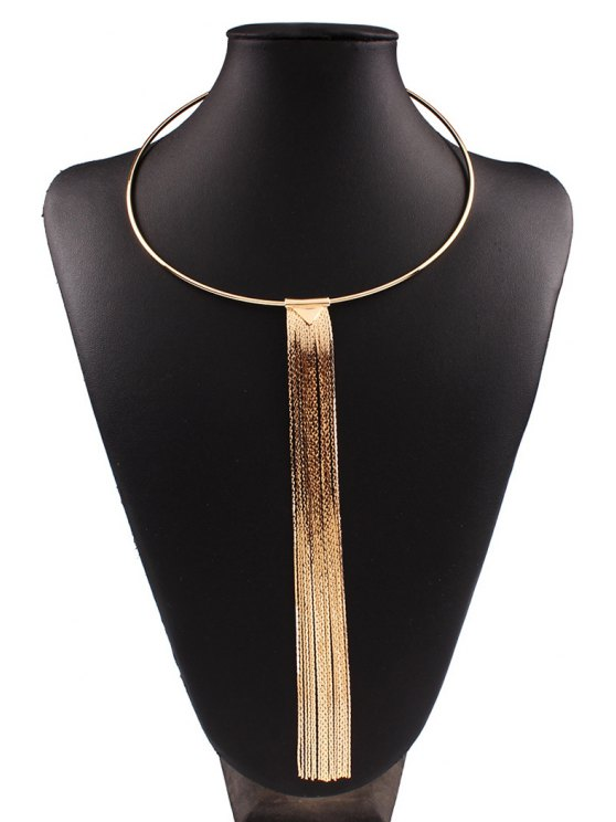 Alloy Long Tassel Necklace - GOLDEN  Mobile
