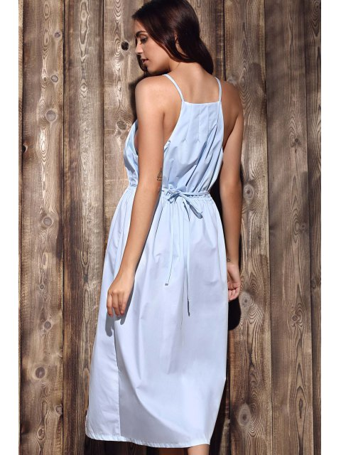 outfit High-Low Hem Spaghetti Straps Dress - LIGHT BLUE XL Mobile