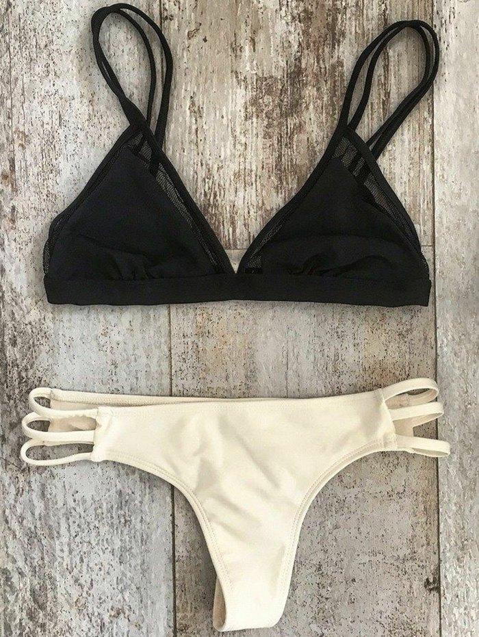Cami Mesh Splice Bikini Set