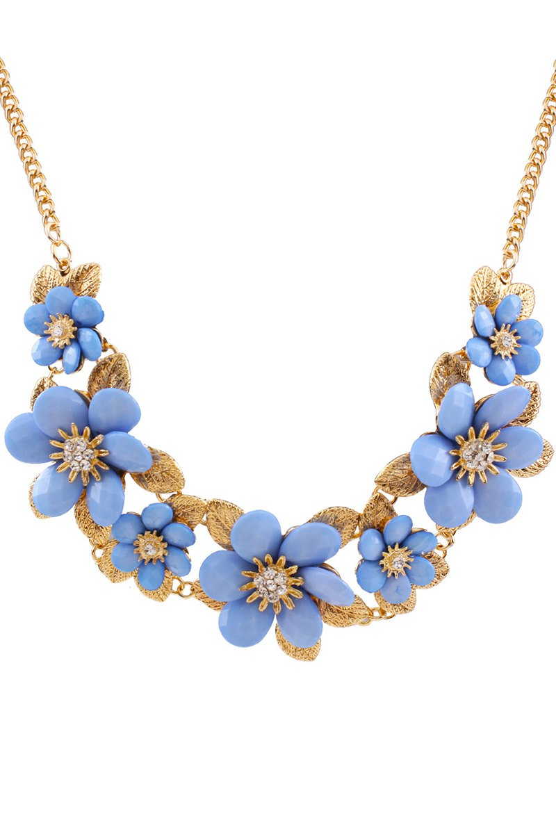 Tropical Flower Pendant Necklace For Women