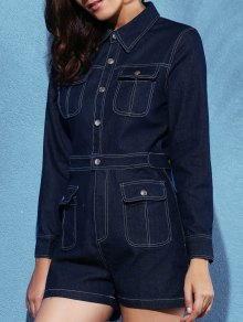 Blue Denim Playsuit