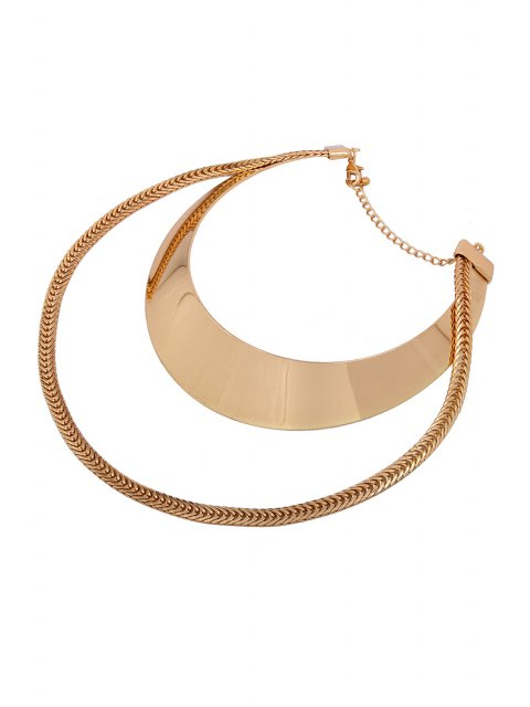 buy Chain Alloy Chokers Necklace -   Mobile