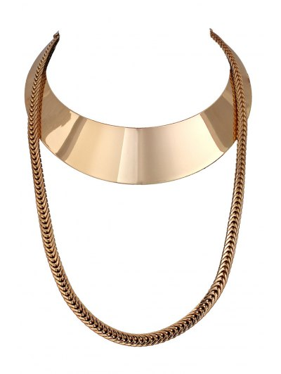Chain Alloy Chokers Necklace - GOLDEN  Mobile