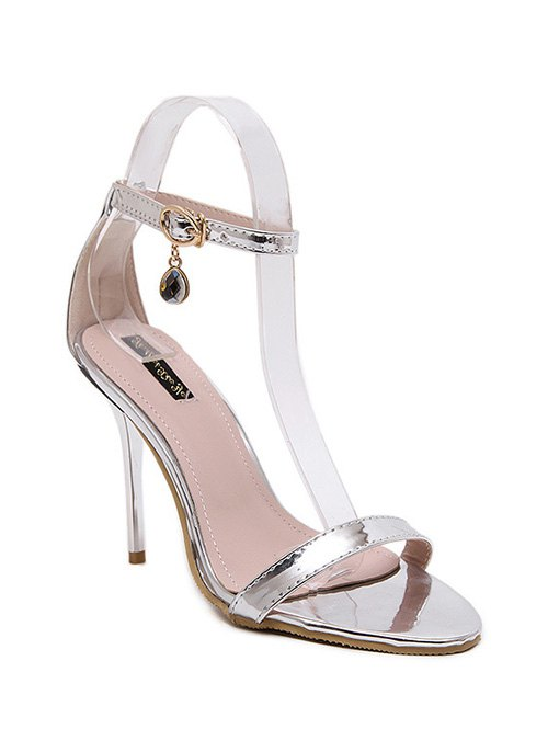Pendant Ankle Strap Stiletto Heel Sandals
